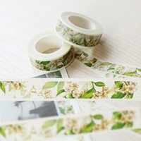 Wholesale Lily Party Favors - Wholesale- 2016 Lily Flower Plant Washi Paper Masking Tapes DIY Tape Scrapbooking Sticker Decorative Stickers Party Favors 1.5cmx10m