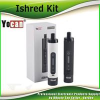 Wholesale Dry Herb Vaporizer Batteries - Original Yocan iShred Vaporizer Kit dry herb vaporizer Pen 2600mah 18650 High Drain battery 100% genuine DHL Free 2204029