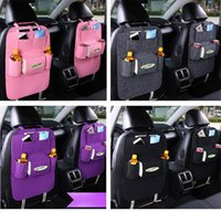 Wholesale Back Seat Storage Bag - 7Colors New Auto Car Seat Organizer Holder Multi-Pocket Travel Storage Bag Hanger Backseat Organizing Box PX-A26