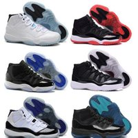Wholesale Good Jams - Gamma Blue XI Basketball Shoes Men Womens New Fashion Sports Shoes Discount Good Quality Retro 11(XI) Bred Concord Space Jam Euro 36-47 Kids