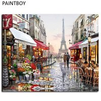 Wholesale Oil Paintng - Oil Painting Framed Picture Paintng By Numbers Handpainted Canvas Painting Home Decoration For Living Room GX4547 40*50cm