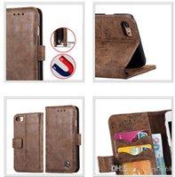 cuir véritable iphone achat en gros de-Étui portefeuille en cuir véritable Flip Cover pour IPhone X 7 / Plus / 6 6S / Réel Support de carte