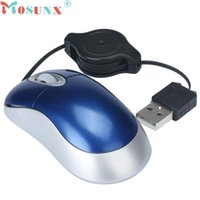 Wholesale Retractable Mouse For Laptop - Wholesale- Mosunx USB Wired Mouse Super Mini Retractable Mice For PC Laptop Computer 0106