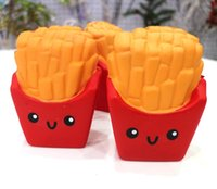 Wholesale Kawaii Cute Squishies - New Slow Rising Squishies High Quality Kawaii Cute Jumbo French Fries Soft Scented Bread Cake Squishy Stretch Kid Toy Free DHL