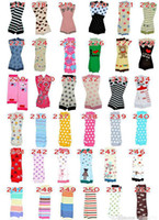 Wholesale Tights Warm Legs - 12Pair Baby Christmas Leg Warmer kids Chevron Leg Warmers infant colorful socks Legging Tights Leg Warmers 318 Styles
