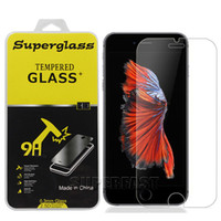 Wholesale Galaxy Screens - For iPhone 7 iPhone 8 Tempered Glass Screen Protector 0.33mm 9H Tempered Glass For Zmax Pro LG aristo v3 Galaxy S7 with Retail Package