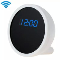 Wholesale Mini Live Camera - Full HD 1080P Alarm Clock WIFI Camera with Remote Live View Features Cool Smartphone Wi-Fi Mini Monitor Clock Camera