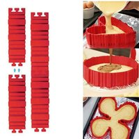 Wholesale magic snake shapes - Cake Mould Set For Home Kitchen Articles Magic Snake Oblong Shape Silicone Baking Moud Red 9 9ak C R
