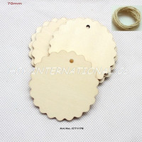 Wholesale Unfinished Wooden Cutouts - (40pcs lot) 70mm Natural unfinished large circle wood disk cutouts round wooden disc wedding crafts 2.8
