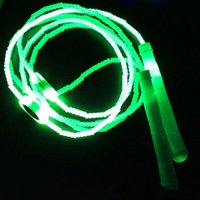 Wholesale Jump Rope Woman - Hot Sale Men Women Sports LED Flash Light Jump Rope Luminescence Skipping Jump Rope Free Shipping