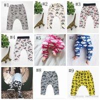 Wholesale Design Brand Winter - Baby Ins Pp Pants Ins Xmas Harem Pants Cotton Deer Moose Cloud Pants Kids Fashion Leggings Girl Tights Newborn Trousers 10 Design G204