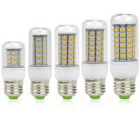 ampoules e12 9w achat en gros de-SMD 5730 E27 GU10 a mené les ampoules d'intérieur 7W 9W 12W 15W 18W 110W 18V 110V 220V 360 de maïs de la lumière B22 E12 E14 de maïs avec la couverture