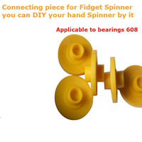 Wholesale Connecting Fitting - new Fidget Spinner fitting Hand tri spinner Connecting piece for Fidget Spinner HandSpinner Decompression Anxiety Toys