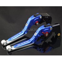Wholesale Motorcycle Clutch Brake Levers - For SUZUKI GSXR 600 750 GSXR600 GSXR750 06-10, GSXR1000 05-06 Motorcycle Adjustable Folding Extendable Brake Clutch Lever Blue