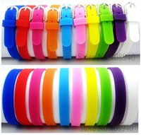 Wholesale Silicone Slide Letters - Wholesale-8MM Silicone Wristband Bracelets Can Choose Color (20 pieces lot) DIY Accessory Fit Slide Letter  Slide Charms LSBR09*20