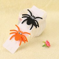 Wholesale Baby Hair Clips Supplies - New Halloween Prank Baby Hair Accessories Barrettes Terror Spider Hair clips for Girl Gifts Costume party Supplies 2017