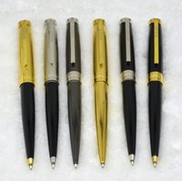 Wholesale Cute Pen Brands - Luxury RLX brand ballpoint pen with High quality RX metal and black resin school office supplies writing smooth cute gift pens 6 style