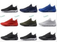 Wholesale High Price Men Boots - Best price Maxs 97 Running Shoes Men 2017 High Quality White Black Sneakers Maxes 97 Breathable Cushion Sports Outdoor