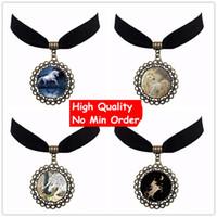 Wholesale Cheap Horse Necklaces - Trendy 6 Style Anime Art Horse Unicorn New Fashion High Quality Cheap Unisex Velvet Choker Manufacturer Free Shipping Gift NS06