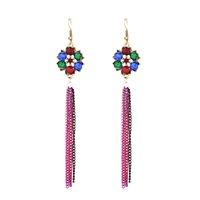 Wholesale Long Earrings For Women Cheap - New Bohemian Jewelry Vintage Style Chandelier Earrings Long Tassel Drop Dangle Earring Ear Hooks Retro Cheap Fashion Jewelry for Women