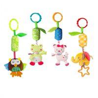 Wholesale Pram Gifts - Wholesale- New Kid Baby Crib Cot Pram Hanging Spiral Musical Toys Gift Soft Developmental Toys Gifts