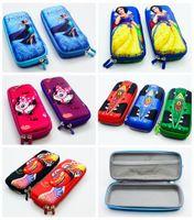 Wholesale Micky Car - Wholesale-boy girl cartoon micky car sofia princess frozenn pencil case bag School Pouches cute children student prize pen sackstationery