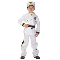 Wholesale Children Stage Shows - Shanghai Story Halloween children's traffic army police clothing navy sailors clothing children show costume for cosplay costume