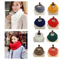 Wholesale Scarves Round Women - Winter Women Infinity Scarf Casual Warm Knitting Soft Ring Scarves Round Neck Snood Scarf Shawl for Lady W015