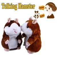 Wholesale Hamster Wholesale - 100pc Wholesale-W110 New 2015 Lovely Talking Sound Record Electronic Navy Pirate Hamster Plush Toy Kids Gift 1019