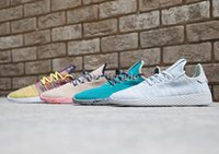 Wholesale Teal Lace Fabric - Free Shipping Pharrell Tennis Hu Shoes in Multi-Color White Green Tan Teal Olive Raw Pink ,Womens Mens Pharrell Williams Tennis Hu Sneakers