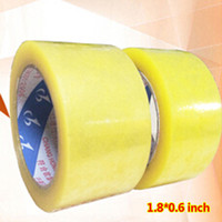 Wholesale Paper Rolls Ribbons - Wholesale- 2016 2 rolls 1.8*0.6 inch Packing Tape Adhesive Tape Film Paper Adhesive Strapping Gift Ribbon Office Adhesive Tape Material Es