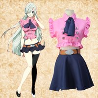 Wholesale Elizabeth Cosplay - Elizabeth Liones cosplay costumes skirt Japanese anime The Seven Deadly Sins clothing Masquerade Mardi Gras Carnival costumes supply from st