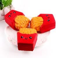 xt игрушки оптовых-Новый Slowish Slow Rising Высокое Качество Kawaii Cute Jumbo Картофель Фри Мягкий Ароматный Хлеб Торт Squishy Stretch Kid Toy XT