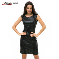 Wholesale Dresses Decorative Sleeveless - Wholesale- Kaige.Nina New Women's Brief Pure Color Style 7 Minutes Of Sleeve Hollow-out Decorative Straight Knee-length Autumn Dress 2241