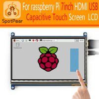 Wholesale inch HDMI USB Capacitive Touch screen LCD for Raspberry Pi mode B x480 Free driver for raspbian WIN10 inch