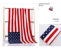 serviettes en gros royaume-uni achat en gros de-Vente chaude USA / Canada / UK / Cotton towel de plage high-end impression créative serviettes de plage dollar drapeau towel de plage en gros