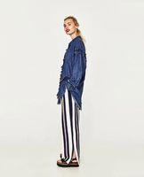 Wholesale Wide Leg Trousers Chiffon - Summer New Women's colthing Pants Loose Trousers Chiffon Pants Big yards Nine pant Wide Leg Pants Fashion