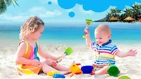 Wholesale Beach Plastic Shovel - 2017 new very fun, very interesting baby toys beach water dredging shovel rake in gun children by dhl