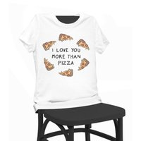 Wholesale Pizza Print Shirt - Pizza Print T-shirt Funny T Shirts Short Sleeve Tee Shirt Tops Clothes Women's Summer T-Shirt For Women Lady Girl