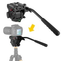 Wholesale Camcorder Tripod Fluid Head - VT-3510 Heavy Duty Video Camera Tripod Action Fluid Drag Head with Sliding Plate for Canon Nikon Sony DSLR Camera Camcorder Shooting Filming