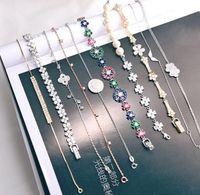 Wholesale Micro Setting 925 Wholesale - 2017 925 silver rock charm bracelets Micro inlay zircon bracelet butterfly diamond Decorations bracelet