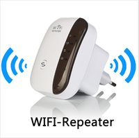 repetidor de red inalámbrica al por mayor-Wireless Wifi Repetidor 300Mbps 802.11n / b / g Red Amplificador Wifi Amplificador De Señal Antena De Internet Señal Aumentador Repetidor Wifi