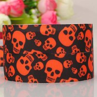 22MM spider web crafts - 22MM yards Halloween Grosgrain Ribbons Rainbow Candy Skull Spider Web Owl Printed Grosgrain Fit DIY Kids Girls Party Hair Jewelry Craft