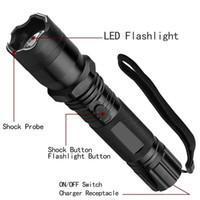 Wholesale Hot Sale New Type Light Flashlight Plus Cree Led Tactical Flashlight Lanterna Self defense Torch built in