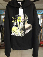 Wholesale Kpop Pullover - 2017 TOP vetements Titanic splicing printing men Hoodies kpop clothes oversized embroidery letter hood Sweatshirts kanye west