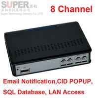 ingrosso giocatore lenovo-Wholesale- 8 ch Funzione di monitor remoto FTP attivato a voce USB registratore di telefonia enterprise USE telefono monitor, registratore di telefono USB