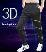 Wholesale Drawstring Loose Leggings - 2017 Men's Running Pants Basketball Soccer Sports Gym Leggings Breathable Loose Fitness Drawstring Trouser Outfits Plus Size 3XL M26