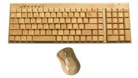 Wholesale Wholesale Bamboo Keyboards - riginal Multimedia Bamboo Wireless Keyboard 2.4GHz Handmade Wooden Wireless Keyboard &Mouse Set for Home Office Computer laptop