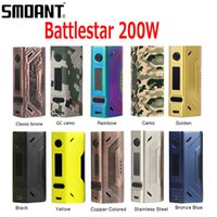 Compra Ss Box-Originale Smoant Battlestar 200 W TC Box Mod Supporto Ni / Ti / SS / NC / TCR Fit Authentic Smoant Mobula RTA 100% originale DHL Libero 2246003