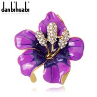 Wholesale Brooches Low Price - 2017 New Poppy Brooches Multicolor Pins Brooches Crystal Rhinestone Red Flowers Drip Brooch For Women Wedding Dress Low Price
